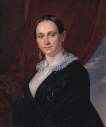 Тропинин Василий Андреевич (1776 - 1857) Женский портрет.1844.  холст, масло