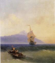 И.К.Айвазовский.  Вечер на море. 1871.  холст, масло